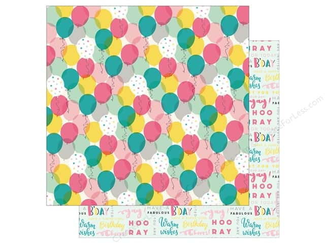 """Echo Park Collection Birthday Girl Paper 12""""x 12"""" Celebrate (15 pieces)"""