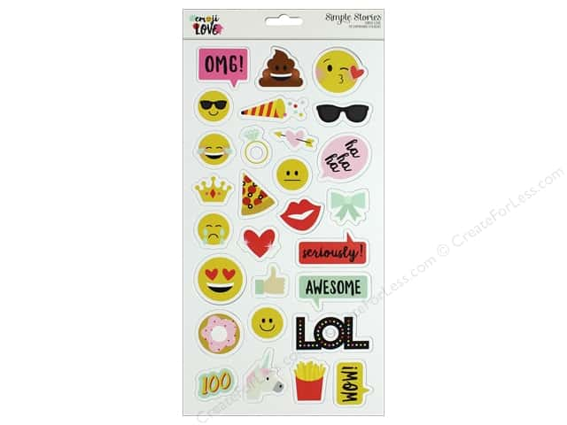 Simple Stories Collection Emoji Love Chipboard 6 in. x 12 in.
