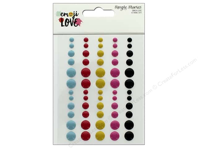 Simple Stories Collection Emoji Love Enamel Dots