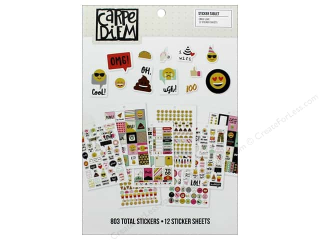 Simple Stories Collection Emoji Love Carpe Diem Sticker Tablet