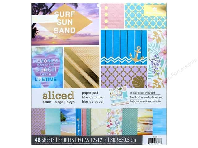 "Paper House Paper Pad 12"" Sliced Beach"