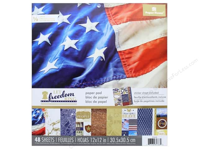"""Paper House Paper Pad 12"""" Let Freedom Ring"""