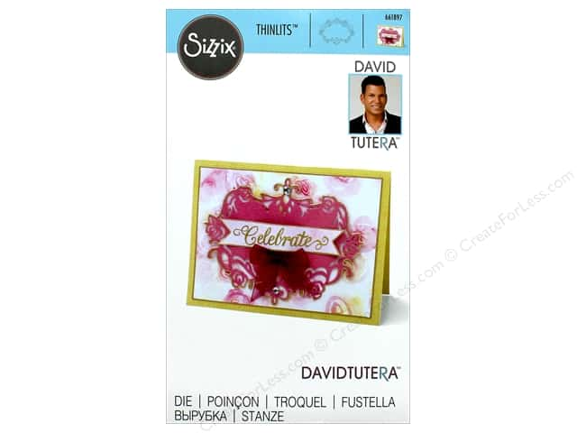 Sizzix Dies David Tutera Thinlits Floral Label 2