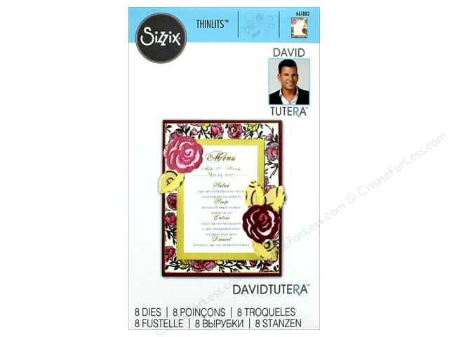 Sizzix Dies David Tutera Thinlits Small Flower Leaves Vine