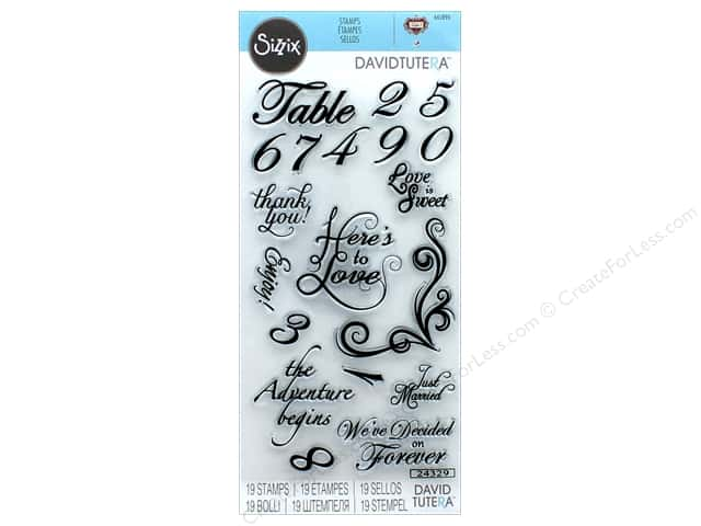 Sizzix Stamp David Tutera Sentiments & Table Number