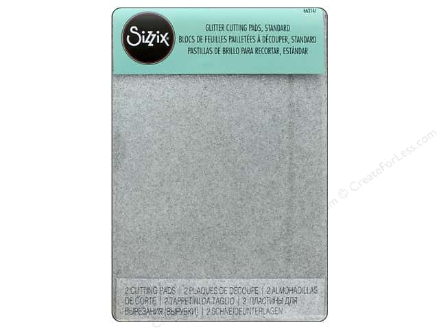 Sizzix Cutting Machine & Accessories Pad Standard Clear Silver Glitter 1pr