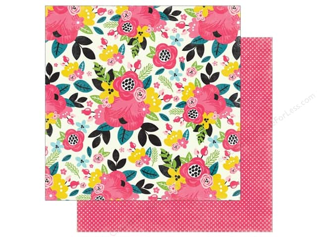 "Echo Park Collection Summer Fun Paper 12""x 12"" Summer Floral (25 pieces)"