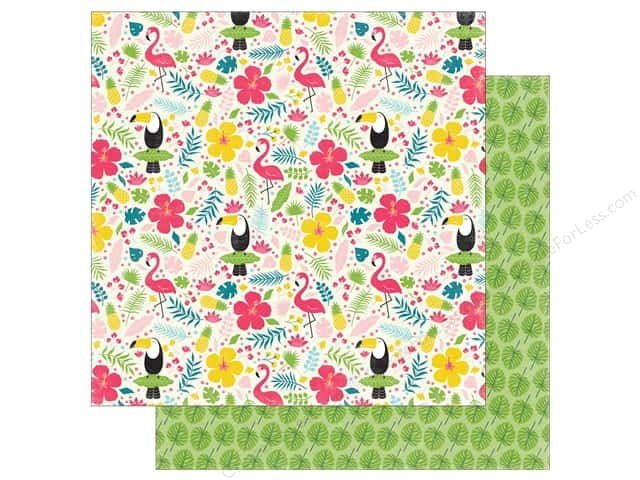 "Echo Park Collection Summer Fun Paper 12""x 12"" Tropical Floral (25 pieces)"