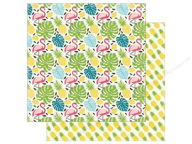 "Echo Park Collection Summer Fun Paper 12""x 12"" Flamingo & Palm (25 pieces)"