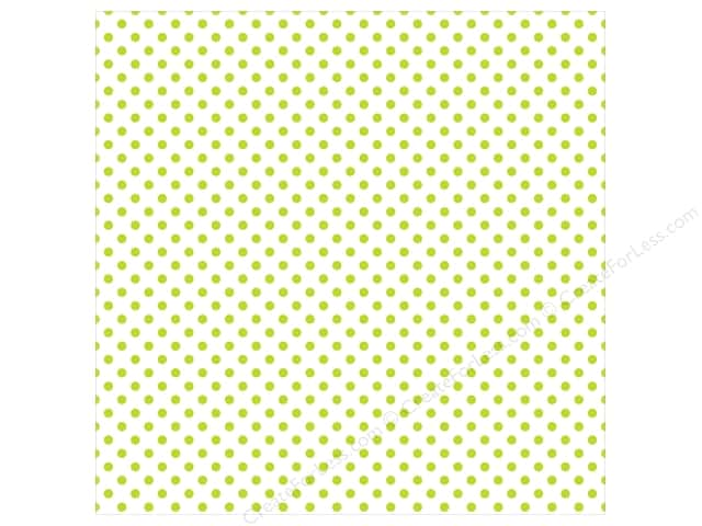 "Echo Park Collection Dots & Stripes Pastel Vellum 12""x 12"" Green Grass (25 pieces)"