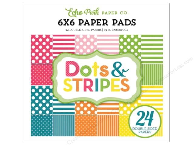 "Echo Park Collection Dots & Stripes Spring Paper Pad 6""x 6"""