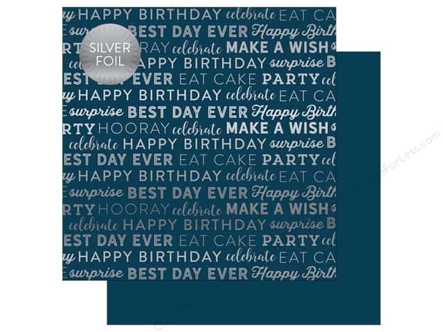 "Carta Bella Collection Celebrate Paper 12""x 12"" Foil Navy (25 pieces)"