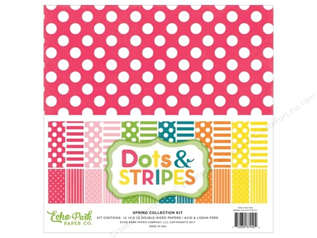 """Echo Park Collection Dots & Stripes Spring Collection Kit 12""""x 12"""""""