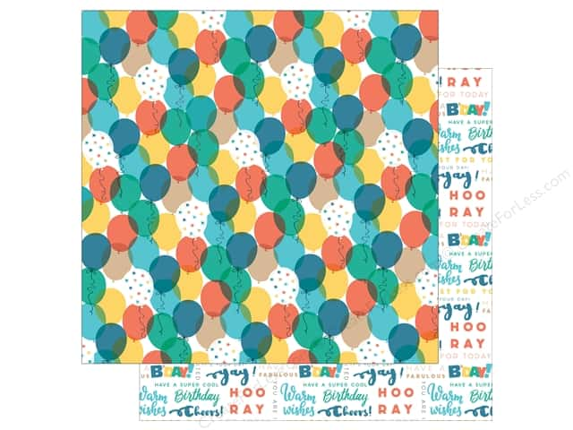 "Echo Park Collection Birthday Boy Paper 12""x 12"" Balloons (15 pieces)"