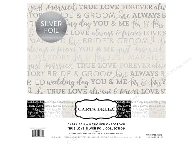 "Carta Bella Collection Love Collection Kit 12""x 12"" Foil"