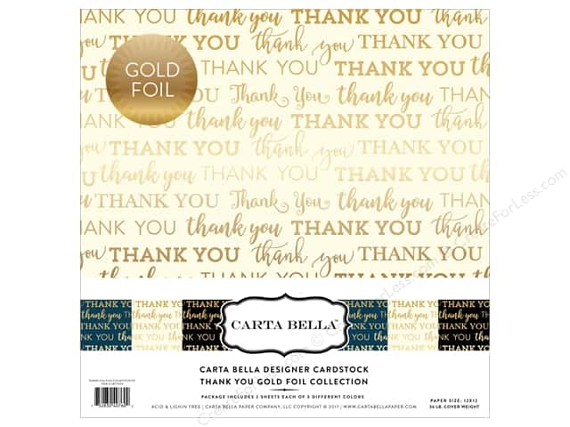 "Carta Bella Collection Thank You Collection Kit 12""x 12"" Foil"