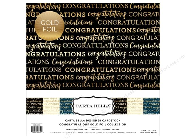 "Carta Bella Collection Congratulations Collection Kit 12""x 12"" Foil"