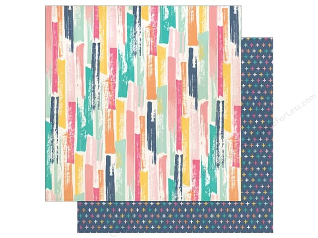"Echo Park Collection Summer Dreams Paper 12""x 12"" Painted Stroke (25 pieces)"