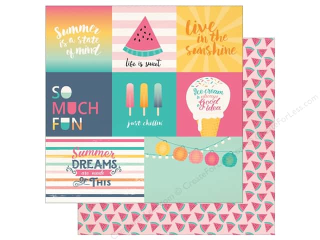"Echo Park Collection Summer Dreams Paper 12""x 12"" Multi Journal Card (25 pieces)"