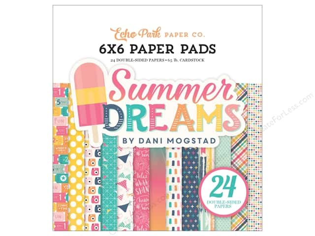 "Echo Park Collection Summer Dreams Paper Pad 6""x 6"""