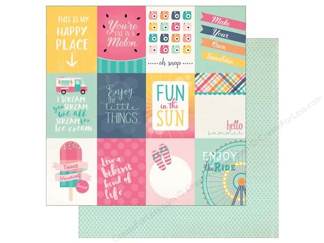 "Echo Park Collection Summer Dreams Paper 12""x 12"" Journal Card 3""x 4"" (25 pieces)"