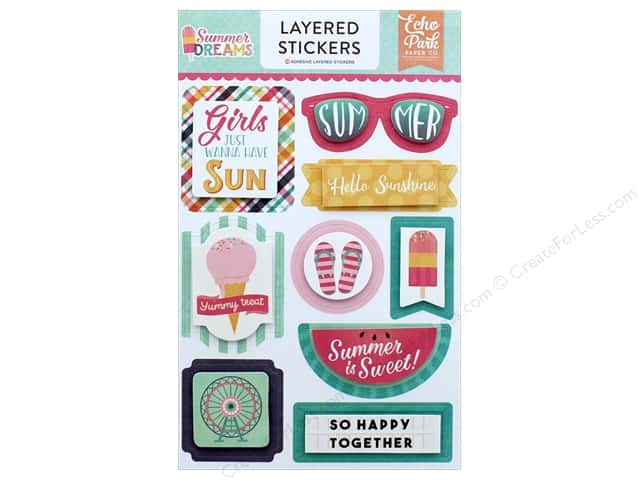 Echo Park Collection Summer Dreams Sticker Layered