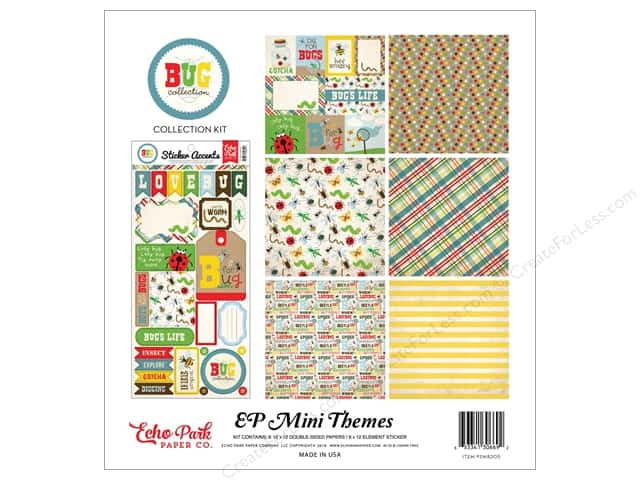 "Echo Park Collection Bug Collection Kit 12""x 12"""