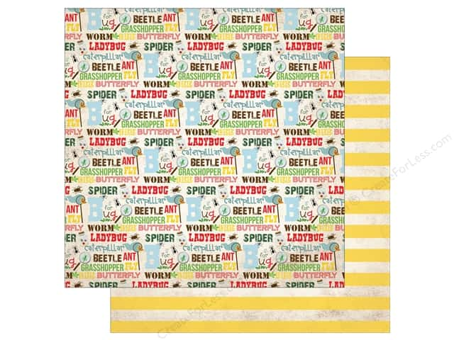 "Echo Park Collection Bug Paper 12""x 12"" Bug Words (15 pieces)"