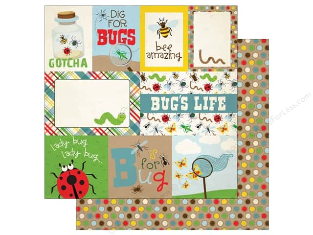 "Echo Park Collection Bug Paper 12""x 12"" Journaling Cards (15 pieces)"