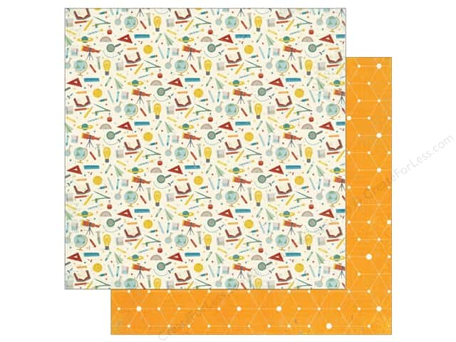 """Echo Park Collection Science Fair Paper 12""""x 12"""" Simply Science (15 pieces)"""
