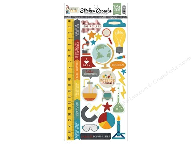 "Echo Park Collection Science Fair Sticker 6""x 12"" (15 pieces)"