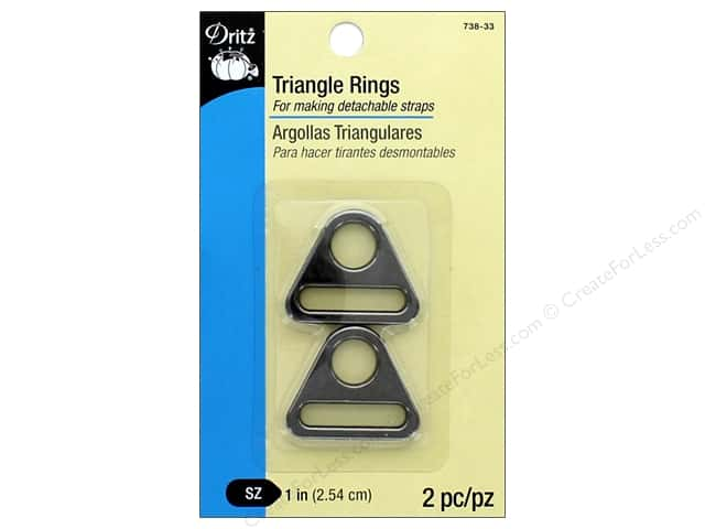 Dritz Triangle Rings 1 in. 2 pc. Gunmetal