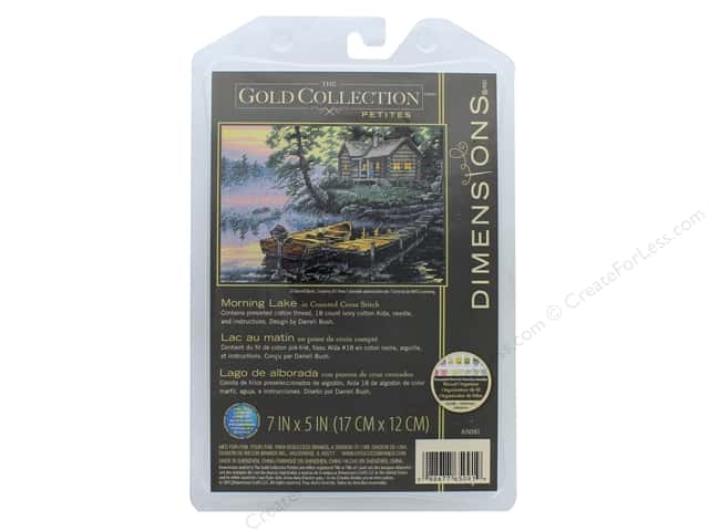 Dimensions Cross Stitch Kit 7 in. x 5 in. Morning Lake