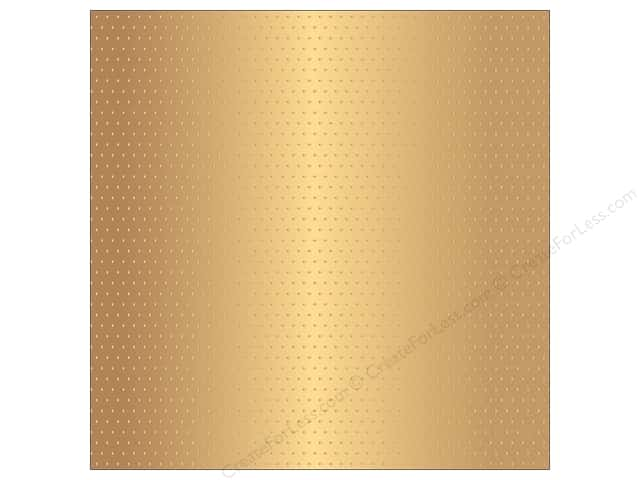 "Pebbles Collection Jen Hadfield Home Made Paper 12""x 12"" Embossed Gold Dot (15 pieces)"