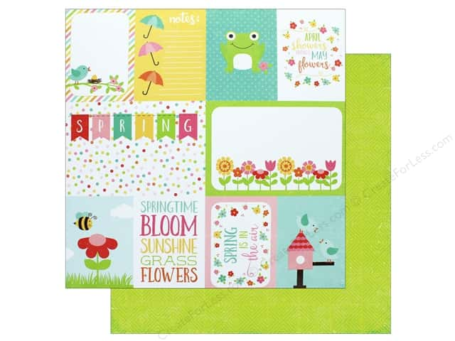 "Echo Park Collection Celebrate Spring Paper 12""x 12"" Journaling Cards (25 pieces)"