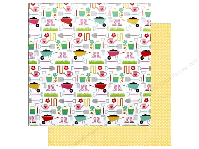 "Echo Park Collection Celebrate Spring Paper 12""x 12"" Garden Tools (25 pieces)"
