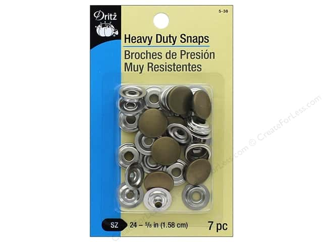 Dritz Heavy Duty Snaps Size 24 7 pc. Antique Brass
