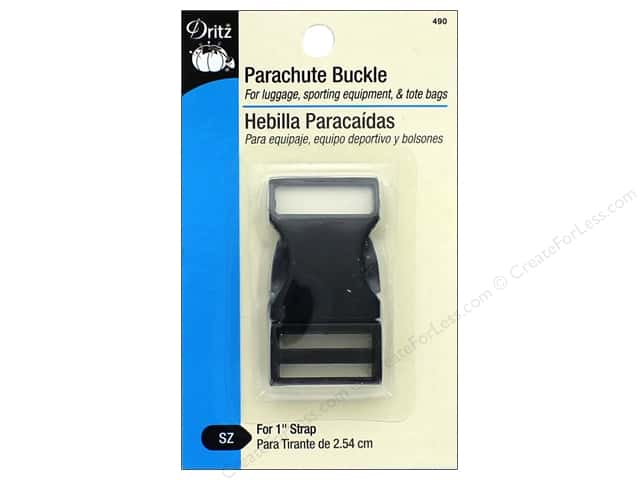 Dritz Parachute Buckle 1 in. Black