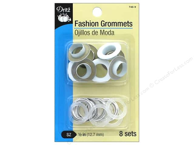 Dritz Fashion Grommets 1/2 in. 8 pc. White