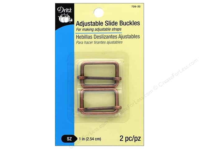 Dritz Adjustable Slide Buckles 1 in. 2 pc. Copper