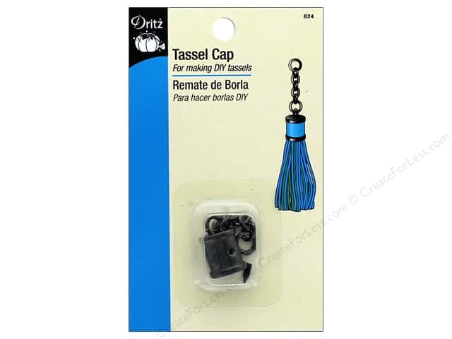 Dritz Tassel Cap with Chain 1 pc. Gunmetal