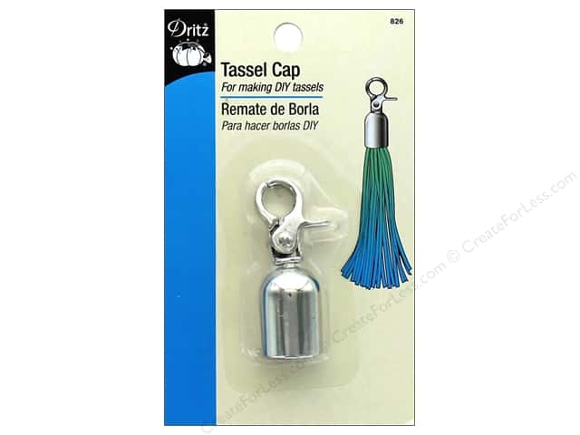 Dritz Tassel Cap with Lobster Clasp 1 pc. Nickel