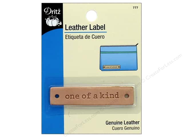 Dritz Leather Label -. Rectangle - One of a Kind
