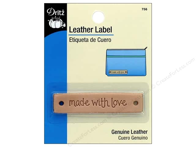 Dritz Leather Label 1 pc. Rectangle Made With Love