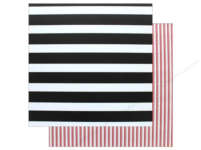 "American Crafts Paper 12""x 12"" Striped (12 pieces)"