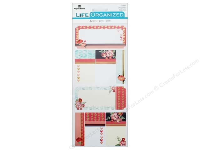 Paper House Collection Life Organized Sticker Label Everyday Moments