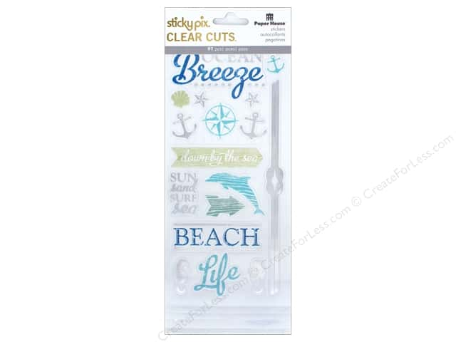 Paper House Sticker Clear Cuts Beach