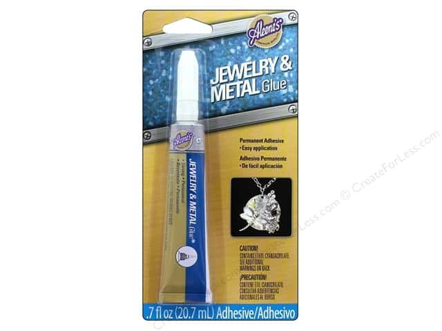 Aleene 39 s jewelry metal glue oz createforless for What kind of glue to use for jewelry
