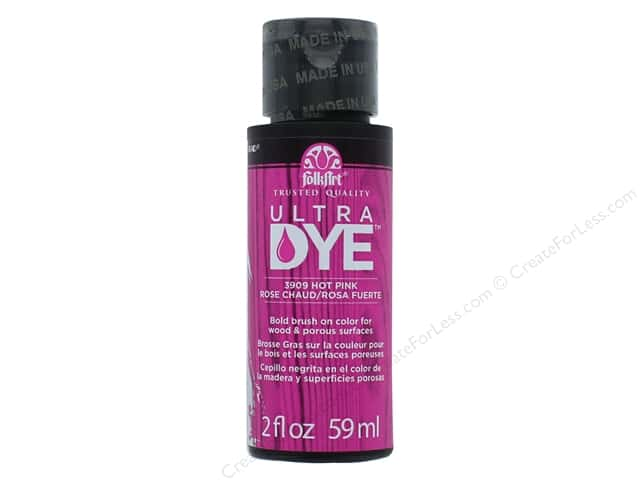 Plaid FolkArt Ultra Dye 2 oz. Hot Pink