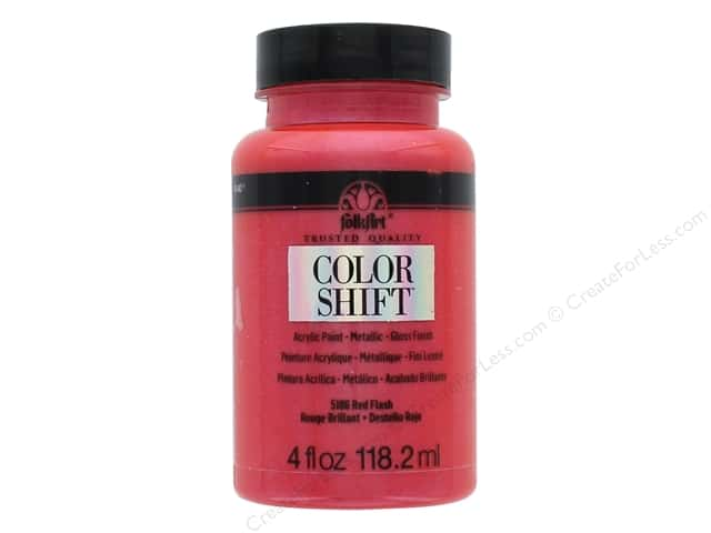 Plaid Folkart Color Shift Paint 4 oz. Red Flash